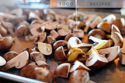 Печени печени гъби са най-добрите рецепти. Как да правилно и вкусно готви гъби във фурната.