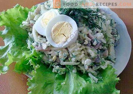 Haringsalade - de beste recepten. Hoe goed en smakelijk koken haring salade.