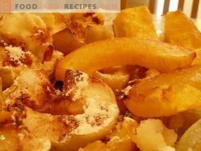 Dovleac cu mere coapte în cuptor
