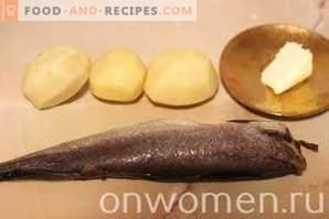 Merluciu coapte în cuptor cu cartofi
