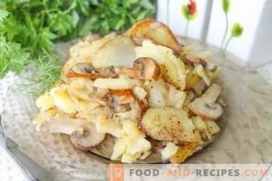 Cum să prăjiți cartofi cu ciuperci într-o tavă