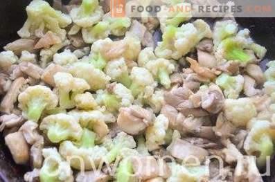 Frittata mit Blumenkohl und Pilzen