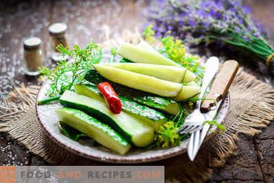 Castraveți cu mâncare rapidă în tigaie (2 ore)