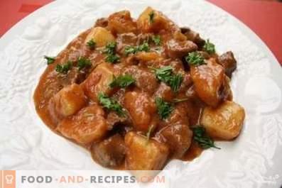 Carne de porc coaptă cu sos