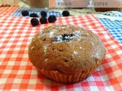 Muffins al cioccolato e gelso