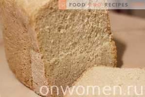 Pâine albă în filtrul de paine