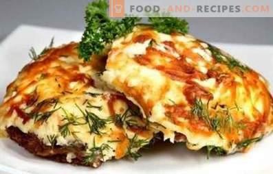 Carne franceză cu roșii și brânză