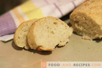 Homemade bread in the oven