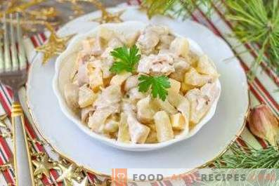 Salate cu ananas și pui