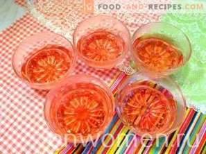 Jelly cu strat dublu cu căpșuni