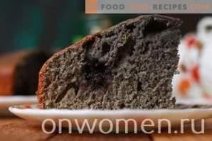 Pie cu dud și cireș pe chefir