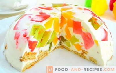 """Торта """"Счупено стъкло"""" със заквасена сметана - разнообразие от вкусове. Историята на външния вид и рецептата за изискана торта"""