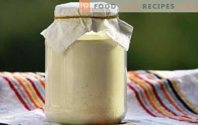 Sos Slavic: smântână din lapte - rețete la domiciliu. Fapte utile despre smântână din lapte, rețetă naturală