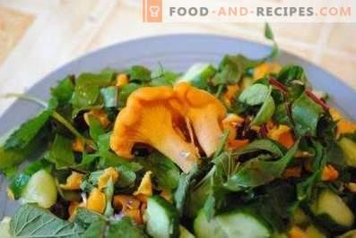 Salate de chanterelle