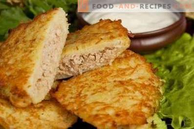 Potato pancakes with meat