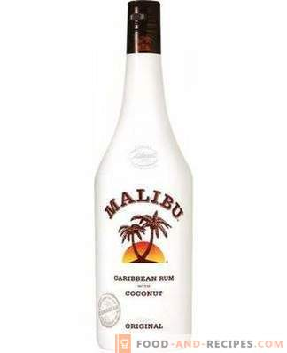 Cum se bea lichior Malibu
