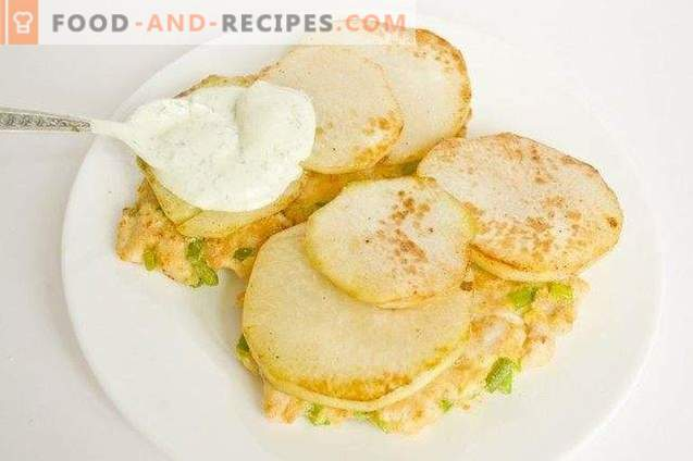 Ciorba de pui tocata cu salata de ardei si usturoi