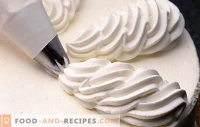 Crème voor de taart - eenvoudig! De beste gebakrecepten crème slagroomtaart en gebak